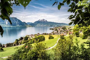 Weggis, Pilatus, Lake Lucerne, Vierwaldstättersee, Schweiz