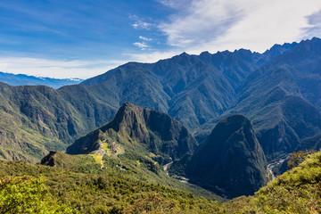 Machu Picchu, a UNESCO World Heritage 15th-century Historic Site, Located in Cusco region of Peru