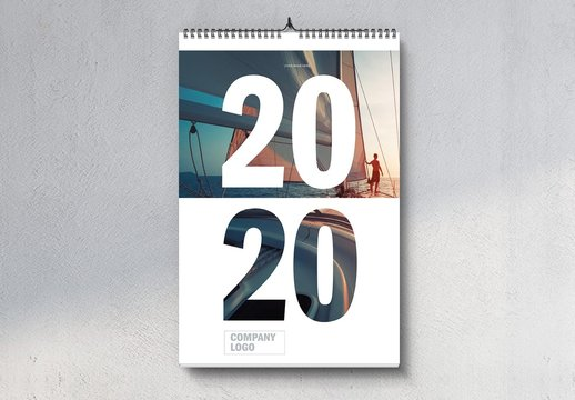 2020 Portrait Wall Calendar Layout