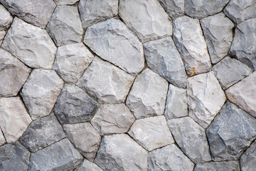 Crack cement wall for background texture, Detail of broken concrete wall