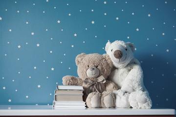 teddy bear with books