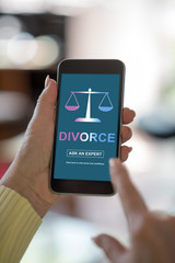 Divorce advice concept on a smartphone