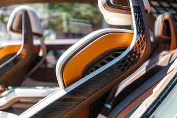 Modern concept super car interior design detail - seats