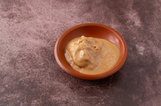Organic sunflower seed butter in a bowl