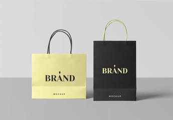 Paper Shopping Bags Mockup