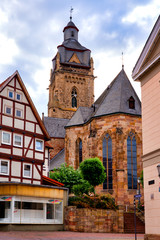 Protestant city church in Bad Wildungen, Germany