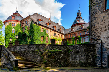 Laubach castle on a beautiful summer day, Germany