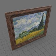 Framed painting of landscape
