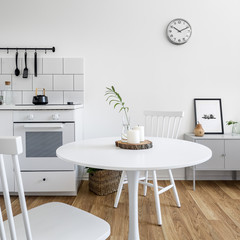 Kitchenette with round table