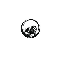 welding company With black circles logo designs image