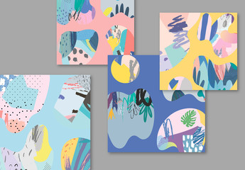 Creative Illustrative Abstract Card Layouts