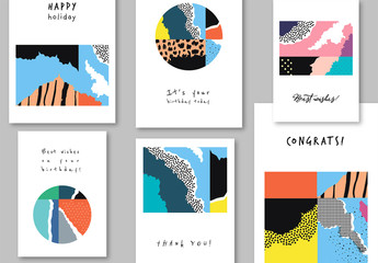 Modern Abstract Illustrative Card Layouts
