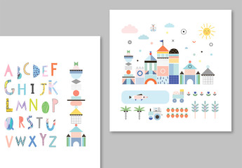 Illustrative Children's Posters Layouts