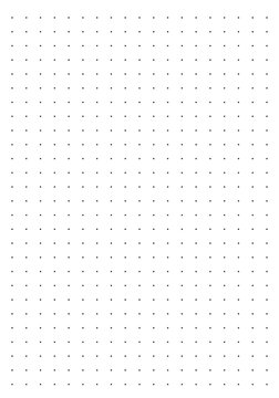 dotted sheet for bullet journal size A5