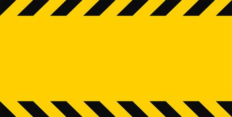Yellow warning stripe template. Vector illustration