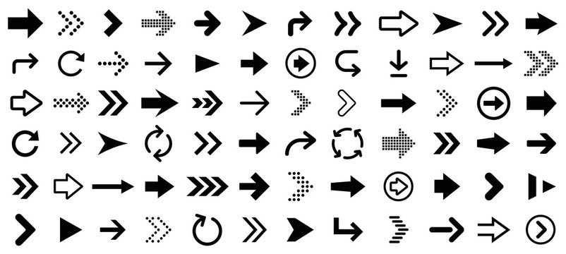Arrow icons set. Vector illustration