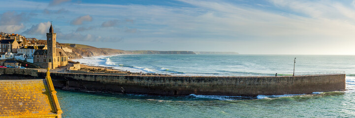Fototapete - Porthleven Pier Cornwall England UK Europe