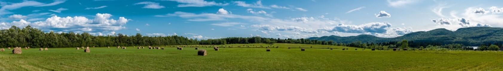 Panoramic view of a land in Adirondacks with haystacks Wall mural