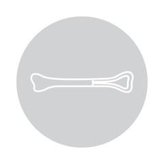 Vector bone icon in circle