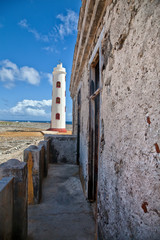 Spelonk Lighthouse as viewed from Ruins of Lighthouse Keeper's House, Bonaire