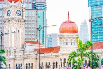 Cityscape of Kuala Lumpur. Sultan Abdul Samad Building. Located near Merdeka Square, Kuala Lumpur, Malaysia.