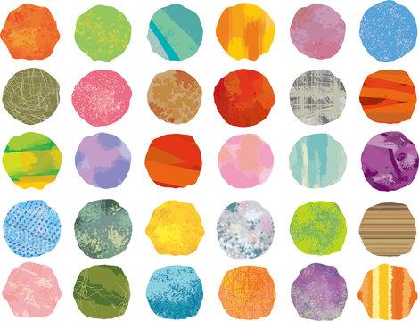 水彩 フレーム 枠 アイコン かわいい 北欧 手書き 油絵 絵の具