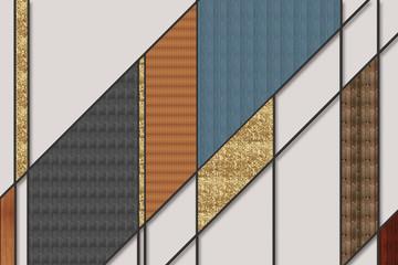 Geometryczna Abstrakcja ze złotymi elementami