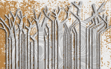 Geometryczna abstrakcja - Drzewa