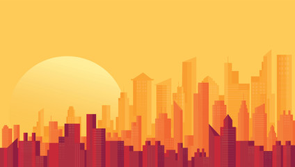 Modern City Skyline backgrounds vector illustration EPS10 Wall mural