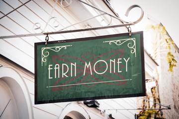 Street Sign Earn Money