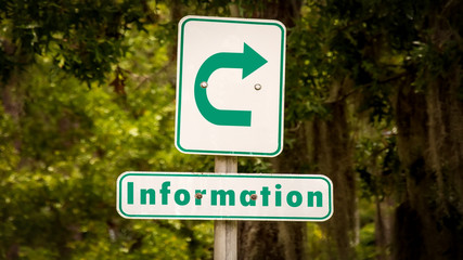 Street Sign to Information
