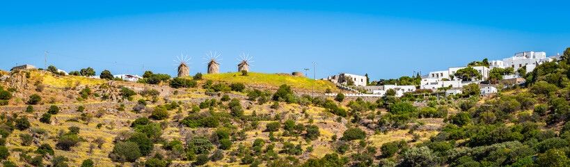 Wall Mural - Panoramic landscape of Patmos, Greece.
