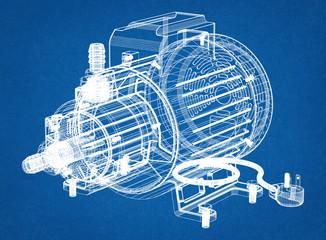 electric motor Fototapete