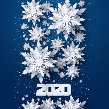 Vector Happy New Year 2020 holidays background .