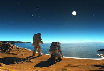 Two astronauts