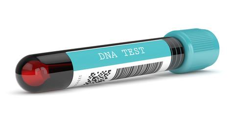 3d render of DNA test tube