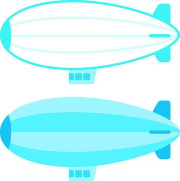 シンプルな飛行船
