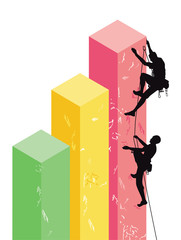 Erfolgreiche Geschäfts Bilanz aufsteigen, Grafik