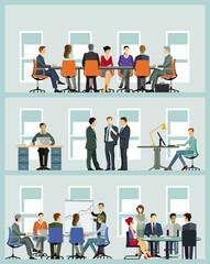 Business Team bei der Zusammenarbeit– Illustration