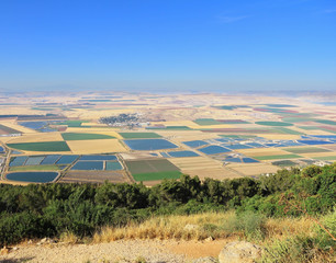 The valley of Galilee. Photo from Mount Barkan