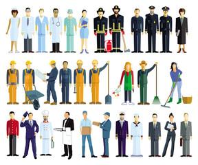 Verschiedene Berufe, Portrait Illustration