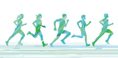 Laufende Menschen beim Sport treiben