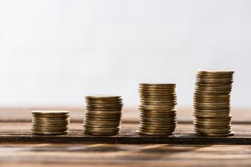Stacks of coins Fototapete