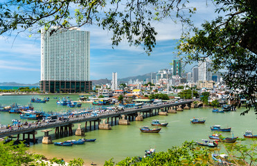 View of Nha Trang city in Vietnam