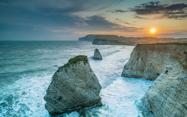 A stormy sunset at Freshwater Bay, Isle of Wight