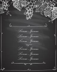 Wine list menu card design concept