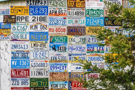 Car License Plates Collage