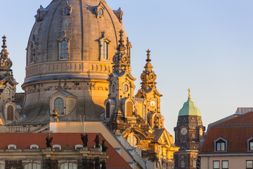 Architecture of Dresden old town in Saxony. Germany