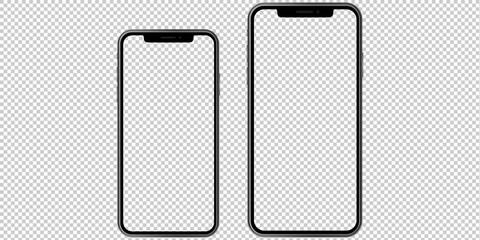 Set of 2 phones. Mockup. Vector graphic.