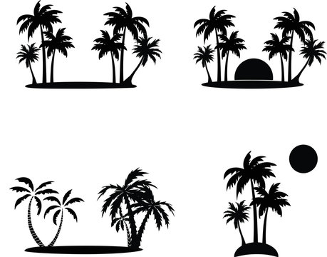 Palm tree , clipart